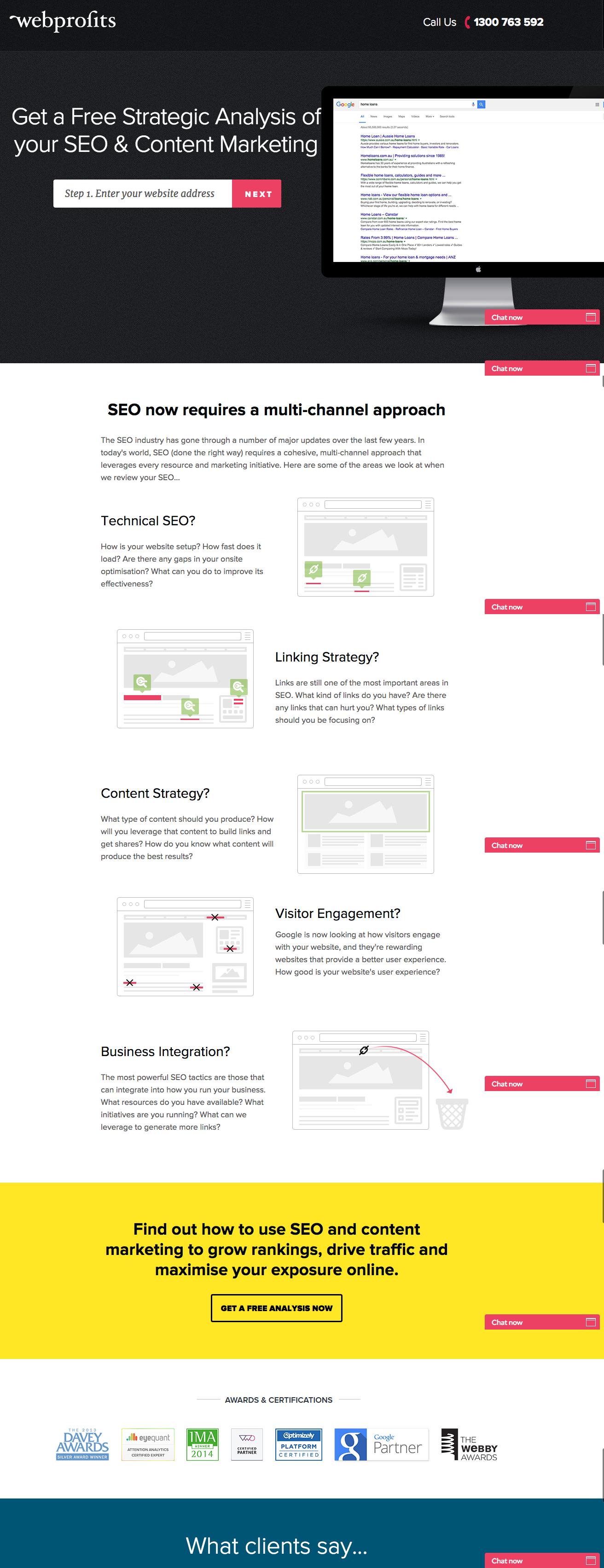 webprofits-landing-page