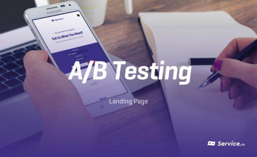 A/B Testing – Landing page